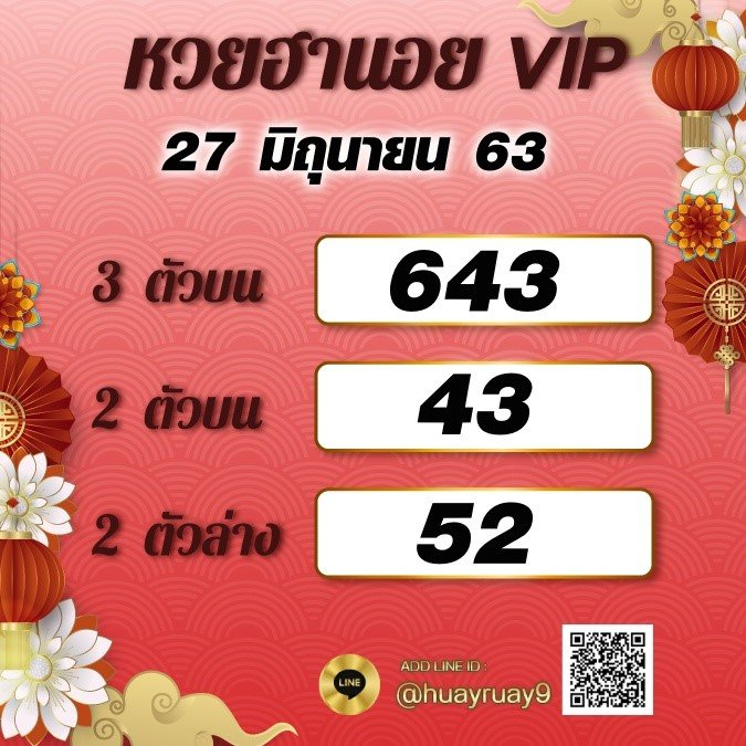 Hanoi Lotto VIP 27 6 63