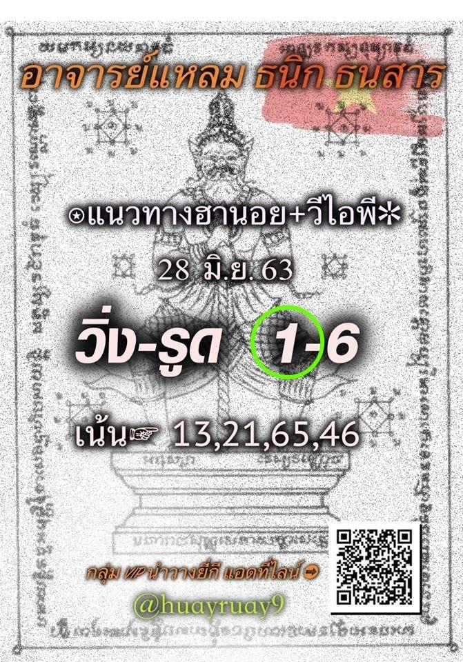 Hanoi Lotto Master Lheam 28 6 63