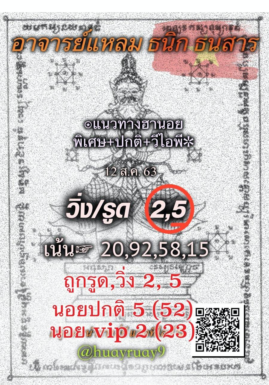 Hanoi Lotto Lheam 12 8 63 1