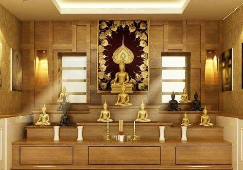 Manphoppra Amulet Buddha Shelf