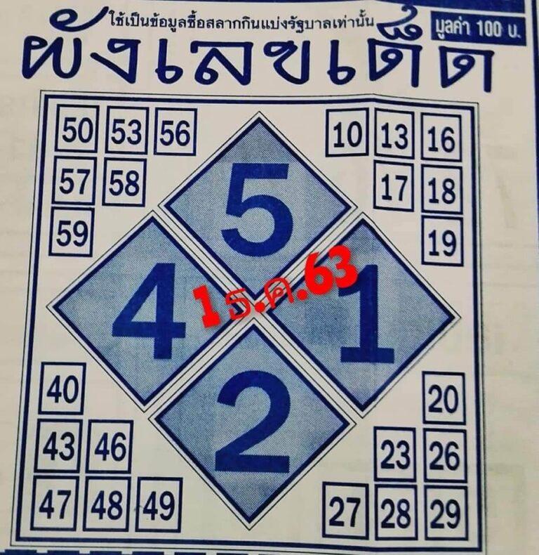 เลขผังเลขเด็ด1ธ.ค.63