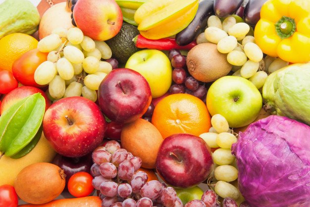 Different Fresh Fruits Vegetables Eating Healthy Dieting 3236 541