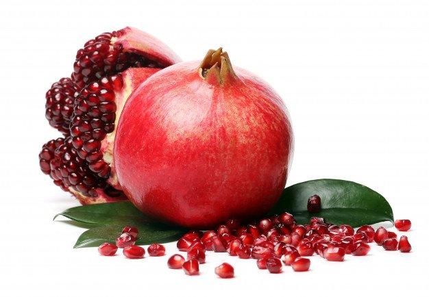 Exotic Delicious Pomegranate White Background 144627 12571
