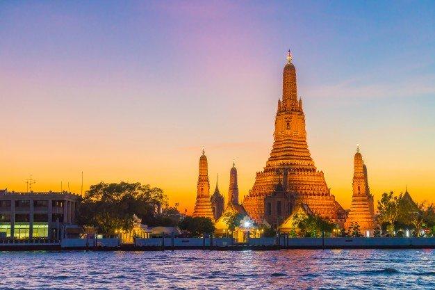 Wat Arun Temple Twilight Bangkok Thailand 1339 1428