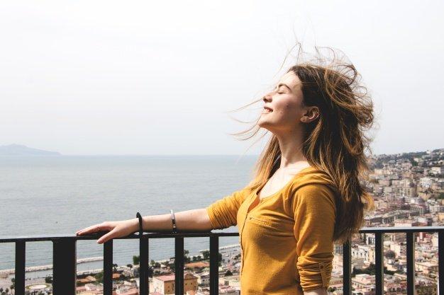 Woman Enjoying Breath Wind 23 2147670157