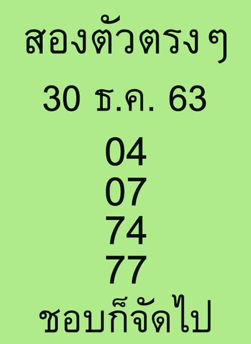 เลขเด็ดหวยดัง30/12/63