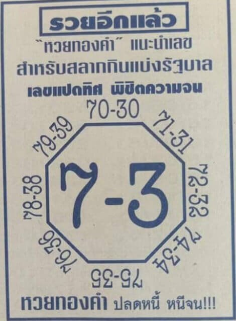 หวยเลขแปดทิศ01/02/64