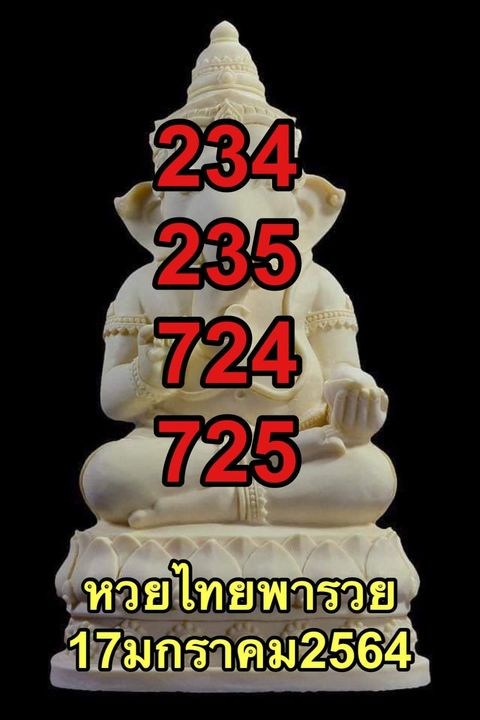 หวยไทยพารวย17/01/64