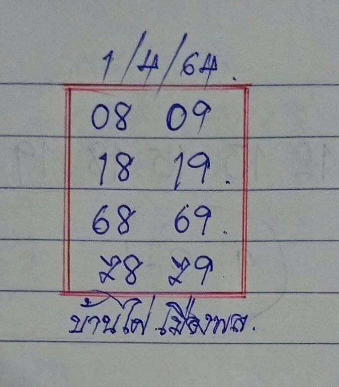 หวยบ้านไผ่เมืองพล VIP 01/04/64