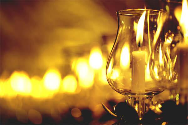 แก้วเทียนสำหรับเวียนเทียน