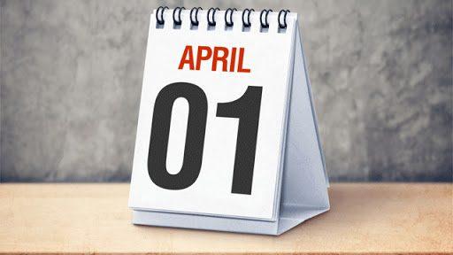 1 เมษายน