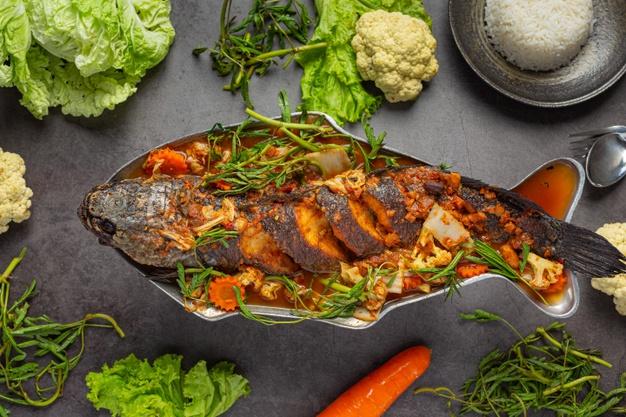 Fish Thai menu