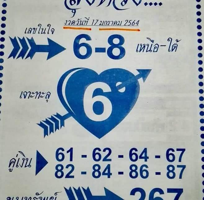 หวยเจาะใจลุงหวัง17/01/64