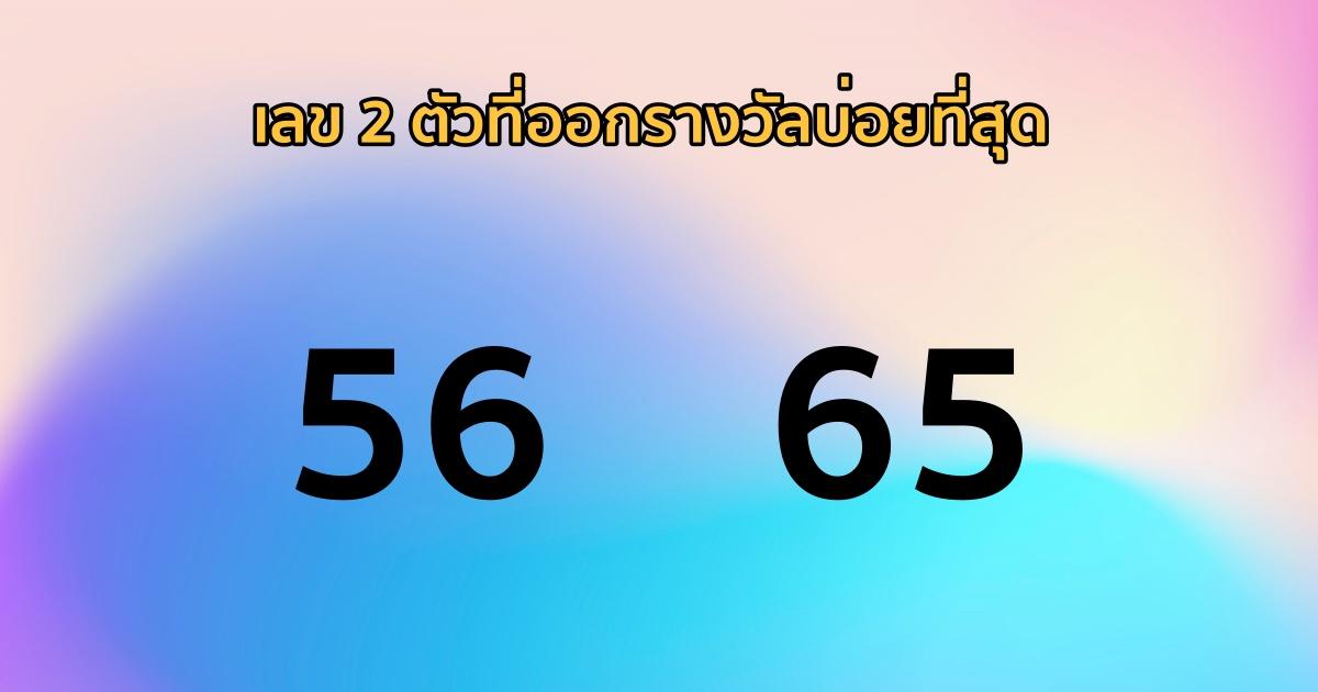 เลขท้าย 2 ตัวบน - ล่าง ที่ออกรางวัลซ้ำ