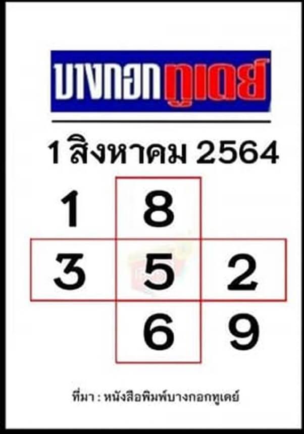 Huay Bangkok Today 1 8 64