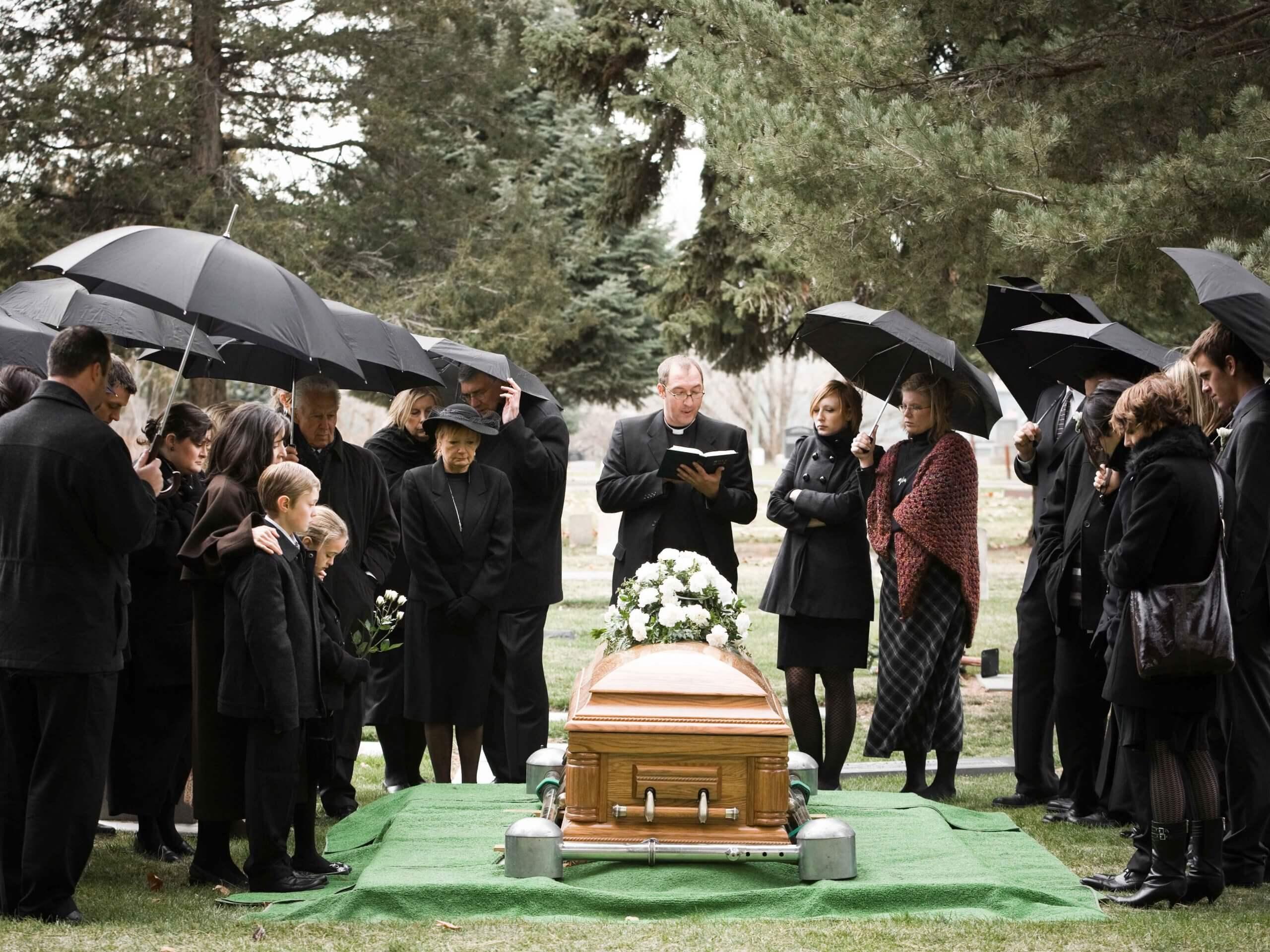 คนมาร่วมงานศพ