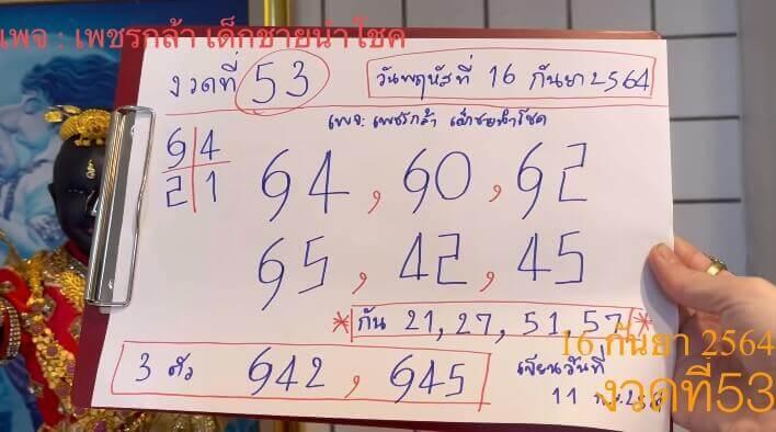เลขเด็ดงวดนี้ เพชรกล้า เด็กชายนำโชค 16/9/64